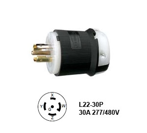 Picture of Hubbell L22-30P Twist-Lock® Plug 30A/3ØY 277/480V
