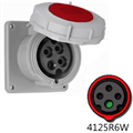 Picture of 4125R6W Outlet - 125A, 380-415V 3-Pole / 4-Wire, IEC60309
