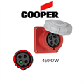 Picture of Cooper 460R7W Outlet -  60A, 480V 3-Pole / 4-Wire, IEC60309