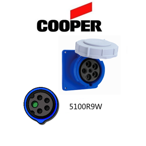 Picture of Cooper 5100R9W Outlet -  100A, 120-208V 4-Pole / 5-Wire, IEC60309