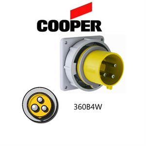 Picture of Cooper 360B4W Inlet -  60A, 110V - 125V 2-Pole / 3-Wire, IEC60309
